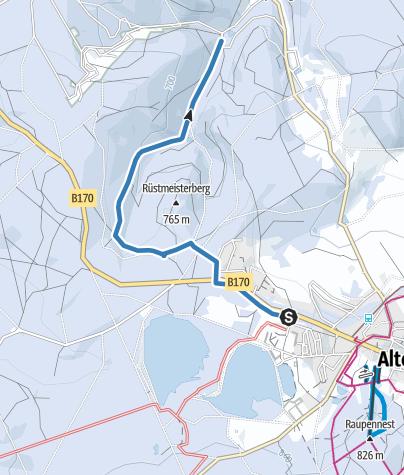 Cartina / Altenberg / Hirschsprung - Skiwanderweg Hirschsprung (S6)