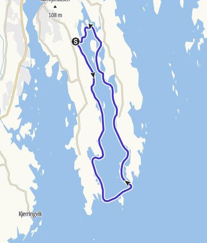 Map / Mefjorden Loop