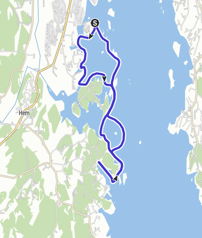 Map / Granholmen to Håkavika