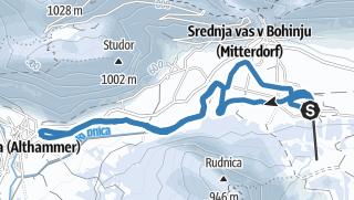 Tekaška proga: Senožeta - Stara Fužina (7 km)