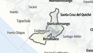 Kartta / Quetzaltenango
