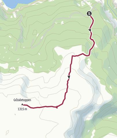 Mapa / Gråsidetoppen