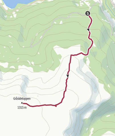 地图 / Gråsidetoppen