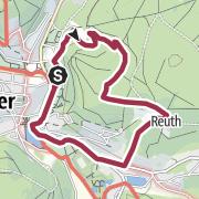 Karte / Genusswandern in Bad Elster 2: Die Kreuzkapelle am Brunnenberg