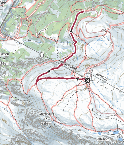 Map / The Mark Twain Trail from the Riffelberg to Riffelalp (No. 18)