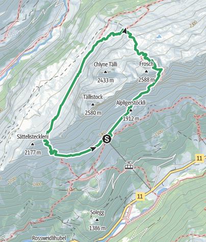 Karte / Tälli Klettersteig