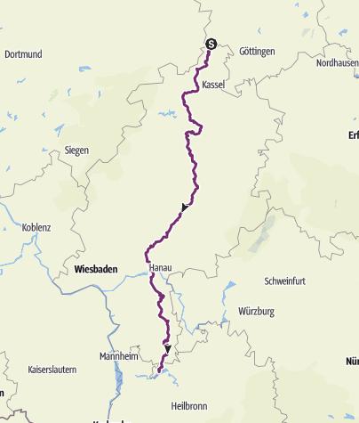 Neckarradweg Karte.Hessischer Radfernweg R4 Von Der Weser Bis Zum Neckar Fernradweg