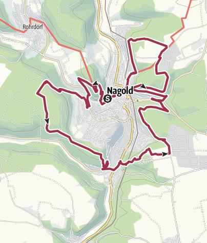 Karte / 7-Berge-Weg rund um Nagold