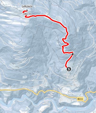 Karte / Schneeschuhwanderung auf den Grifitzbühel