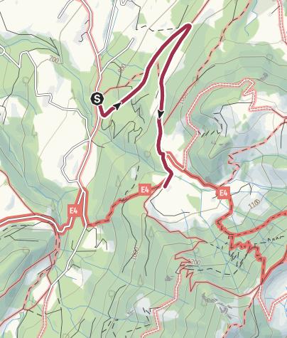 Karte / Mit dem Kinderwagen zur Doaglalm