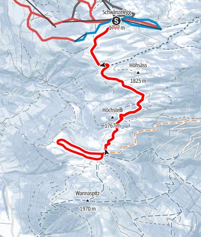 Map / Schneeschuh-Tour Danusa - Scära - Danusa