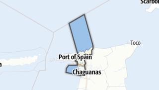Karte / San Juan-Laventille