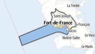 Kartta / Fort-de-France