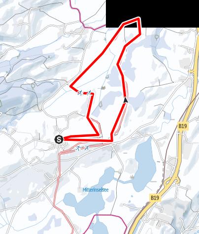 Karte / Memhölz-Rohr Winterwanderweg