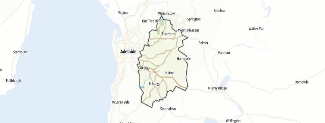 Carte / Randonnée - Adelaide Hills