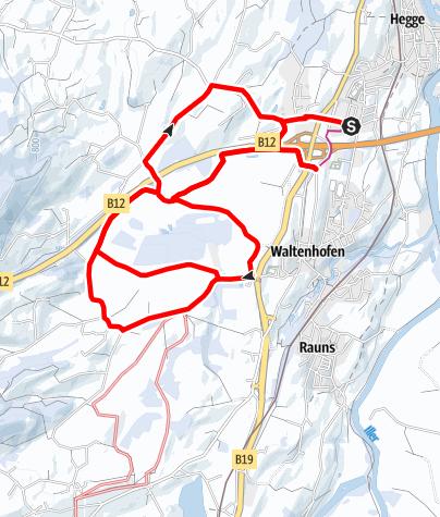 Karte / Waltenhofener Moor-Winterwanderweg