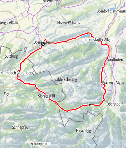 Karte / Nagelfluhtour Rohrmoos-Runde
