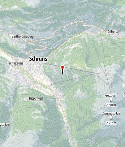 """Karte / Gästehaus """"Schrunsblick"""""""