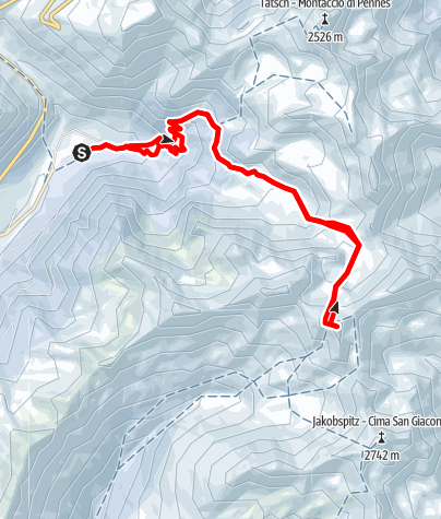 Karte / Von Asten auf den Hörtlahner im Sarntal