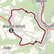 地图 / Lokaler Wanderweg - B1