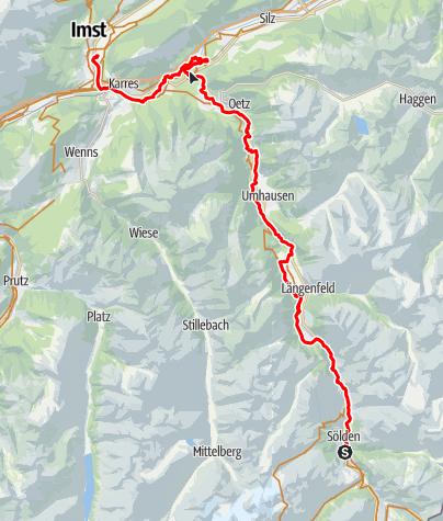 Karte / Marco Reisen Sölden - Imst