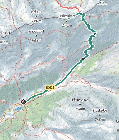 Map / Mountain tour to Schientalkopf (Schüttalkopf)