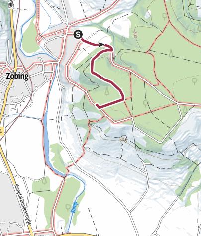 Karte / Wanderweg zur Kamptalwarte am Heiligenstein