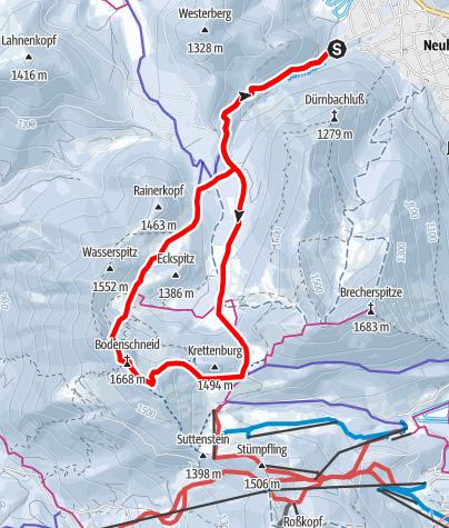 Karte / Bodenschneid von Neuhaus