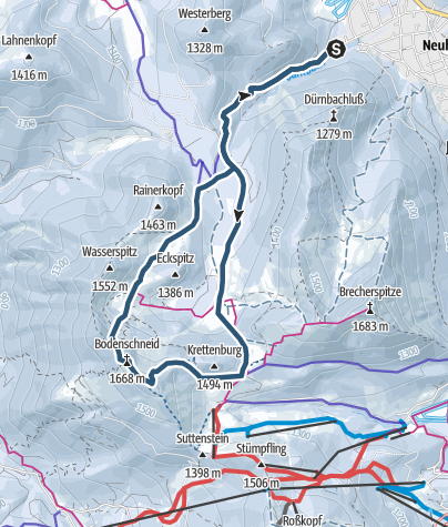 Carte / Bodenschneid von Neuhaus