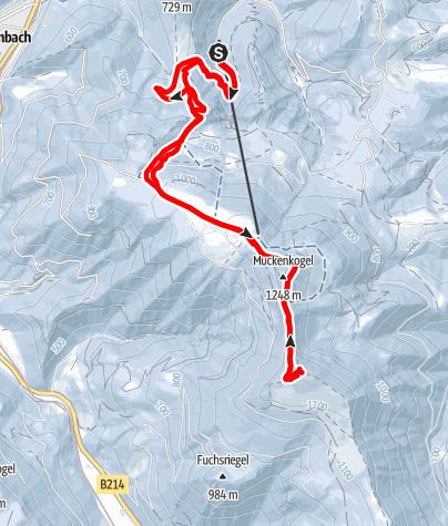 Karte / Auf die Traisnerhütte über den Muckenkogel von Lilienfeld