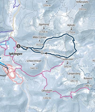 Karte / Tanzeck - Krottental - Taubensteinsattel