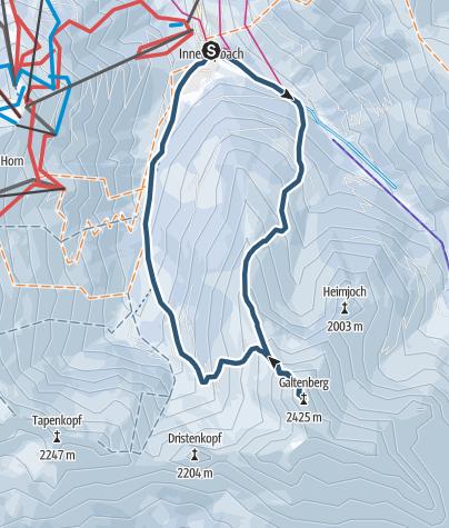 Karte / Überschreitung Großer Galtenberg von Inneralpbach