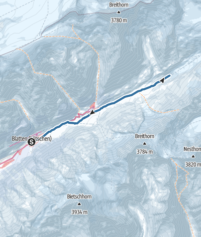 Karte / Langgletschertor