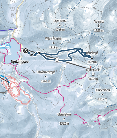 Karte / Rauhkopf - Skitour für Einsteiger