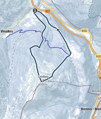 Karte / Sattelberg von Gries am Brenner