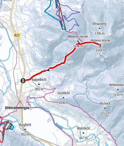 Karte / Hörnletour - aufs Mittlere und aufs Hintere Kohlgruber Hörnle