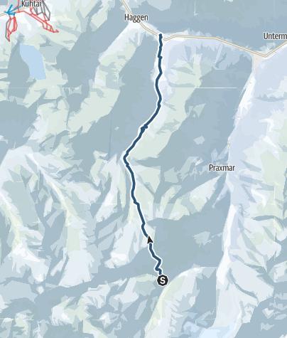 Map / Vom Westfalenhaus über die Zischgenscharte nach St.Sigmund im Sellrain