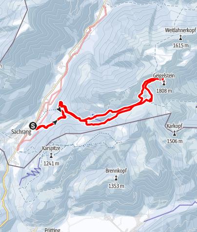 Karte / Geigelstein - der Skitourenklassiker des Chiemgaus