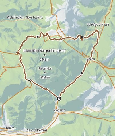 Cartina / Giro del Latemar - Tour 930