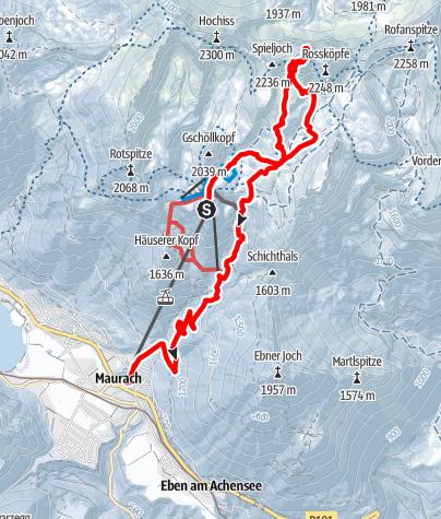 Karte / Seekarlspitze - Seilbahn-Anschlusstour im prächtigen Rofangebirge