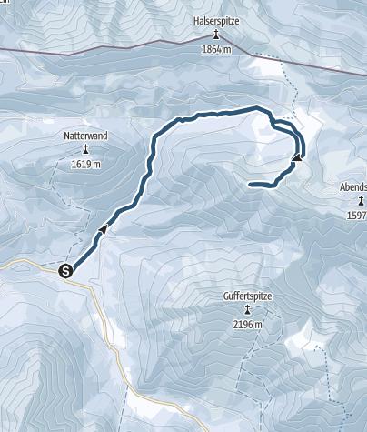 Karte / Schneidjoch - zwischen Guffert und Blaubergkamm
