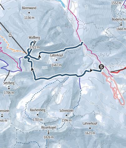 Karte / Wallberg - durch den Mittertaler Graben