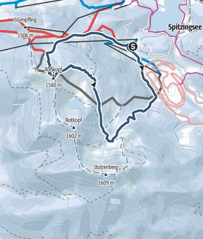 Karte / Roßkopf - Eingeh- oder Anfängertour am Spitzingsee