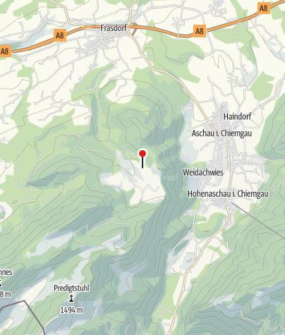 Karte / Gumpertsberger Hütte (964m) - DAV Sektion München