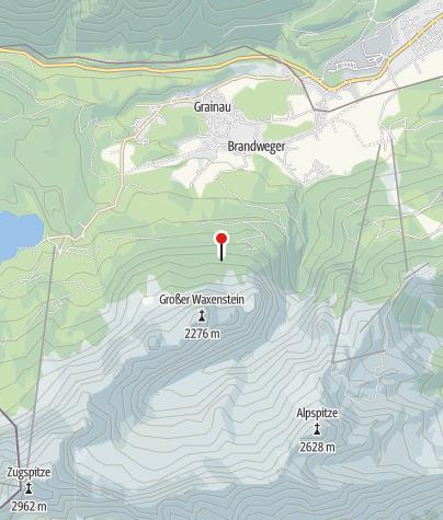Map / Waxensteinhütte (1384m) - DAV Sektion München