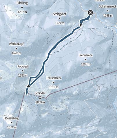 Karte / Schinderkar - zum Tor