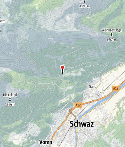 Karte / Reitbichlhütte (917m) - DAV Sektion Oberland