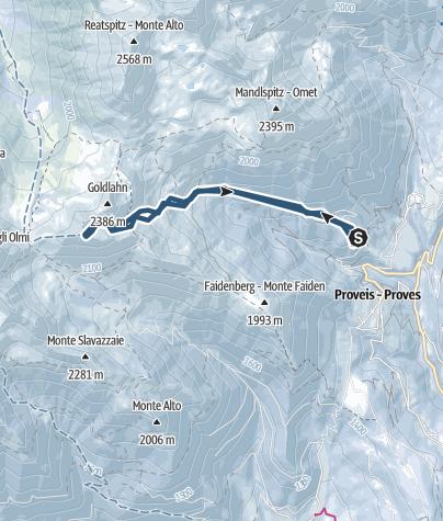 Map / Cima Lavazzè