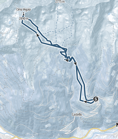 Karte / Cima Vegaia