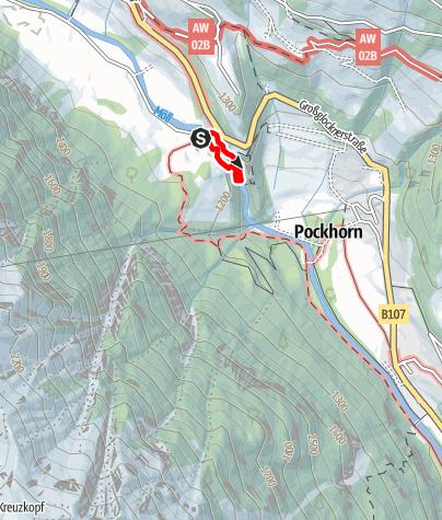 Karte / Möllschlucht-Klettersteig bei Heiligenblut